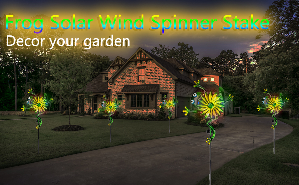 frog solar wind spinners