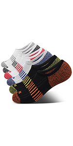 No Show Athletic Socks 6 Pairs Hiking Running Ankle Socks For Women Cushion Low Cut Socks