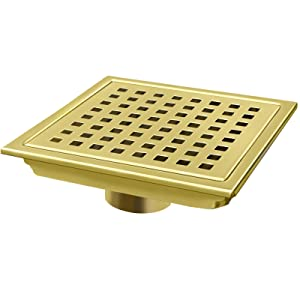 shower drain grate gold