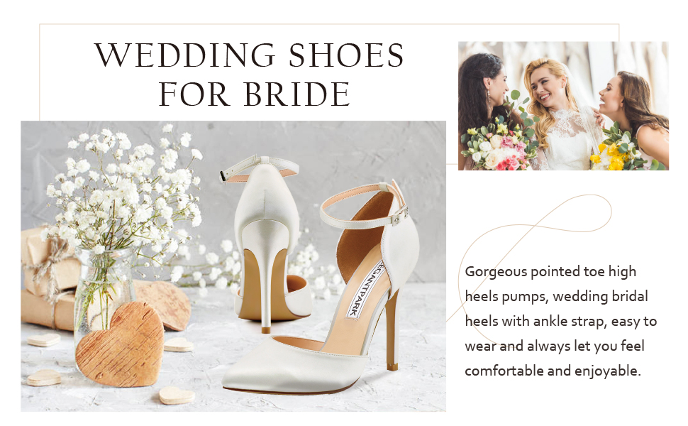wedding shoes for bride point pumps ivory heels for women bridal shoes high heel pumps  bridesmaids