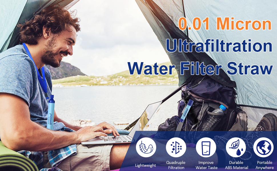 0.01 Micron uf water filter straw