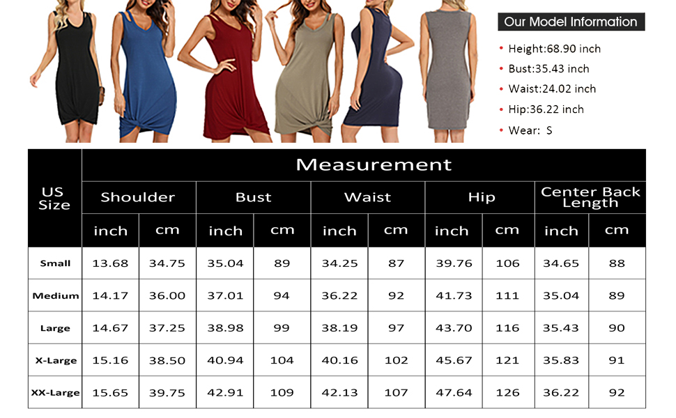 Tank Tops Size