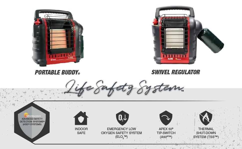 Portable Buddy;mr heater;indoor safe heater;portable heater;low oxygen safety system heater