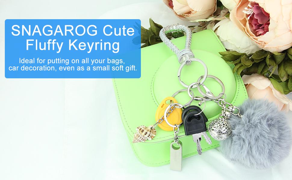 SNAGAROG cute tassel key ring