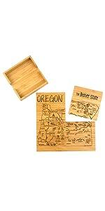 Oregon Puzzle Coasters