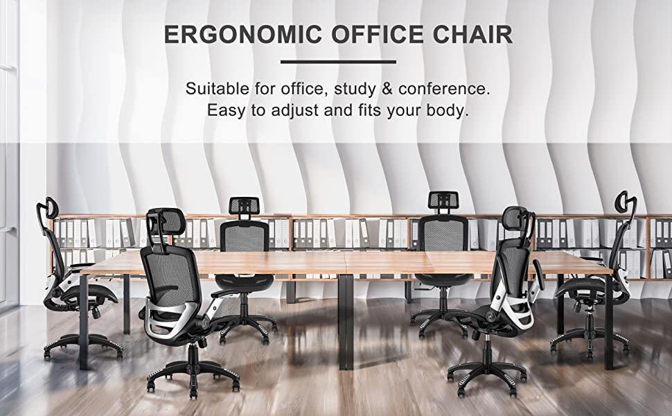 high-back office chair with lumbar support