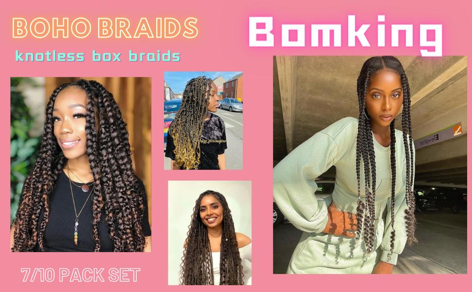 24 Inch BoHo Knotless Box Braids