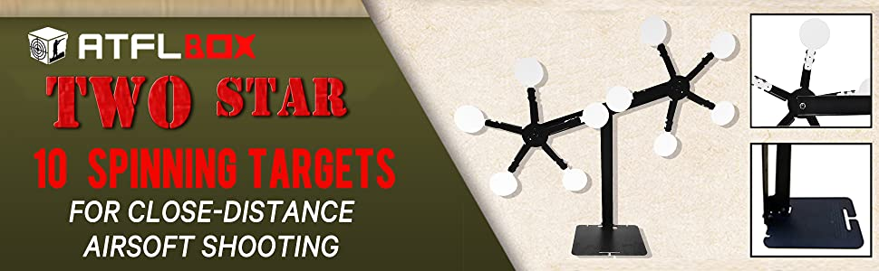 two star airsoft target stand