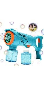 Electric Large Bubble Gun with Bubble Solution Liquid