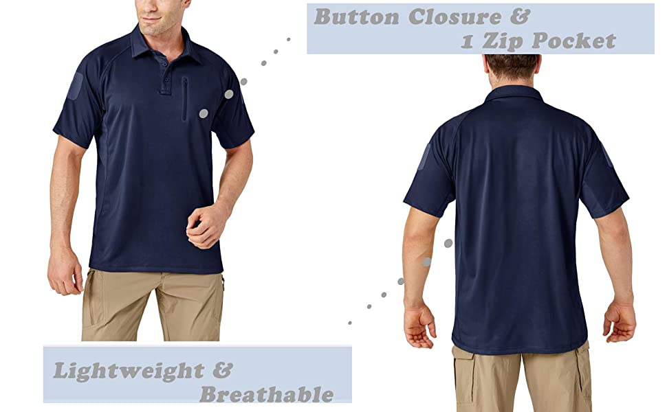 kefitevd military Polo summer short sleeve work polo outdoor hiking climbing t-shirt golf tops