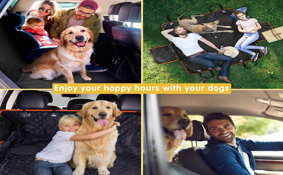 CHANCCI Dog Car Seat Cover Enjoy Happy Hours With Your Pet