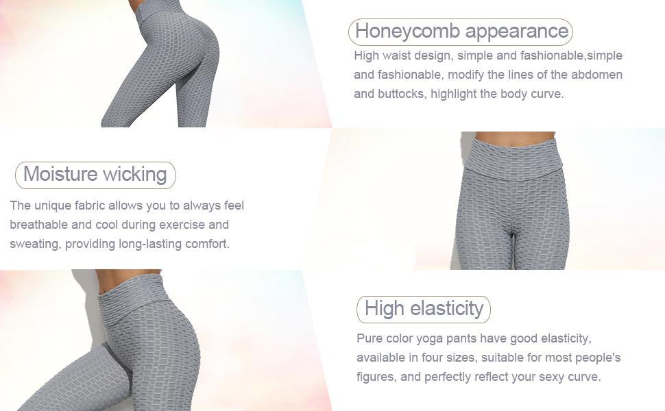 Women's High Waist Yoga Pants Tummy Control Slimming Booty Leggings Workout Running Butt Lift Tights