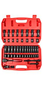 49-Piece 3/8amp;amp;amp;#34; Drive Deep And Shallow 6-Point Impact Socket Set 5/16-Inch to 3/4-Inch