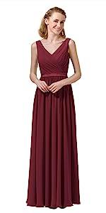 Burgundy Bridesmaid Dress