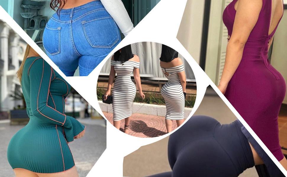 Women's Butt Lifter Underwear Lace Boyshort Enhancer Panties Body Shaper