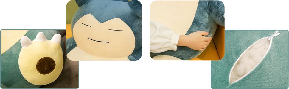 snorlax plush details show