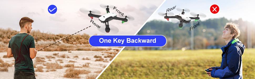 Drone one key return home
