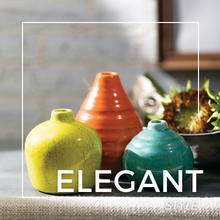 vase, vase set, ceramic, home decor, mantel decor, shelf decor, table top, rustic, vases
