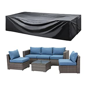 large patio furniture set cover waterproof