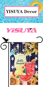 YISUYA sweet summertime garden flag