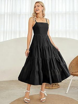 plus size maxi dress babydoll spaghetti strap dress