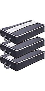 3 sacs de rangement sous le lit