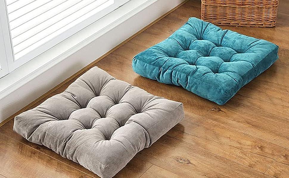 blue floor cushion