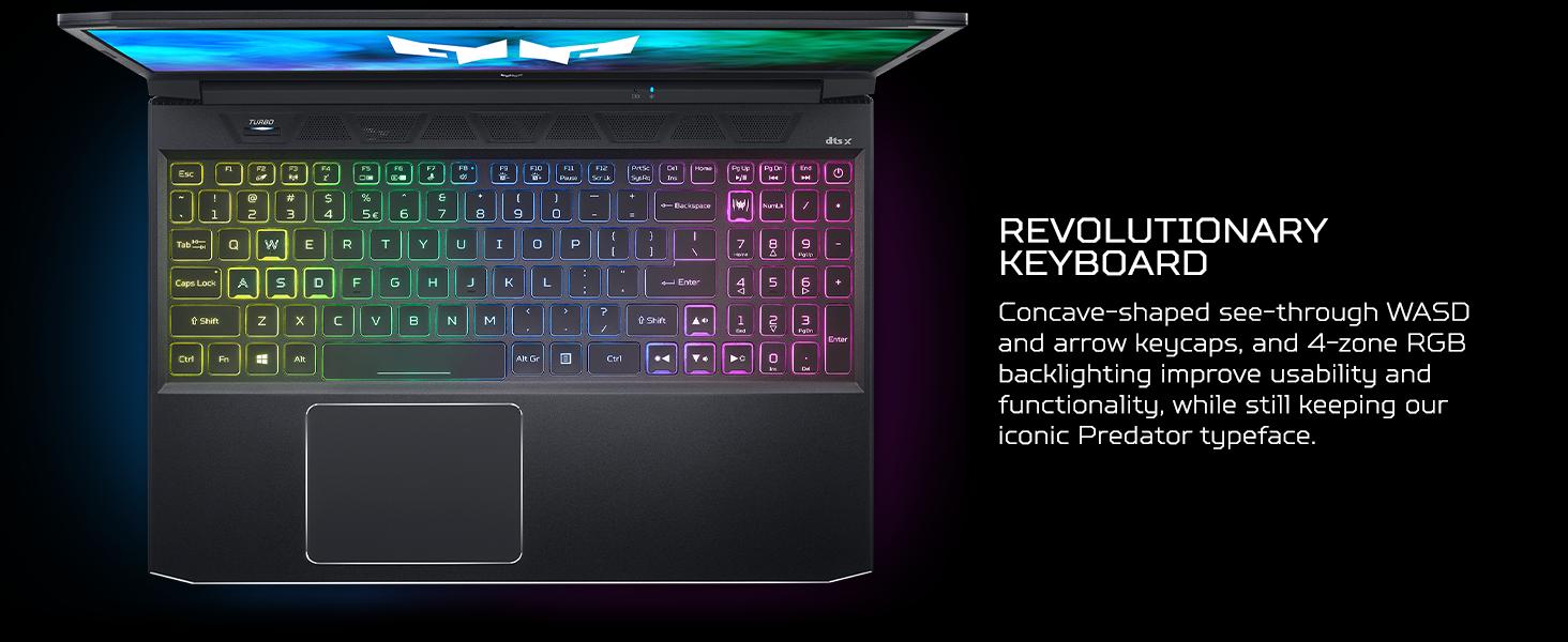keyboard keycaps keys concave shaped see through lighting backlit backlight backlighting 4 zone rgb