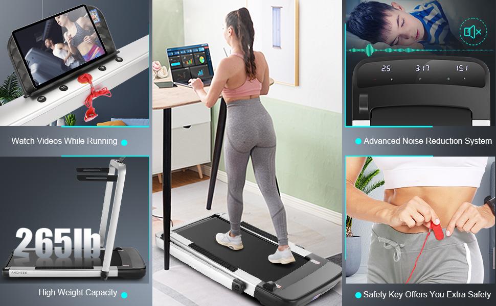 desk folding treadmill