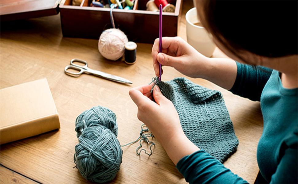 aluminum crochet hooks set