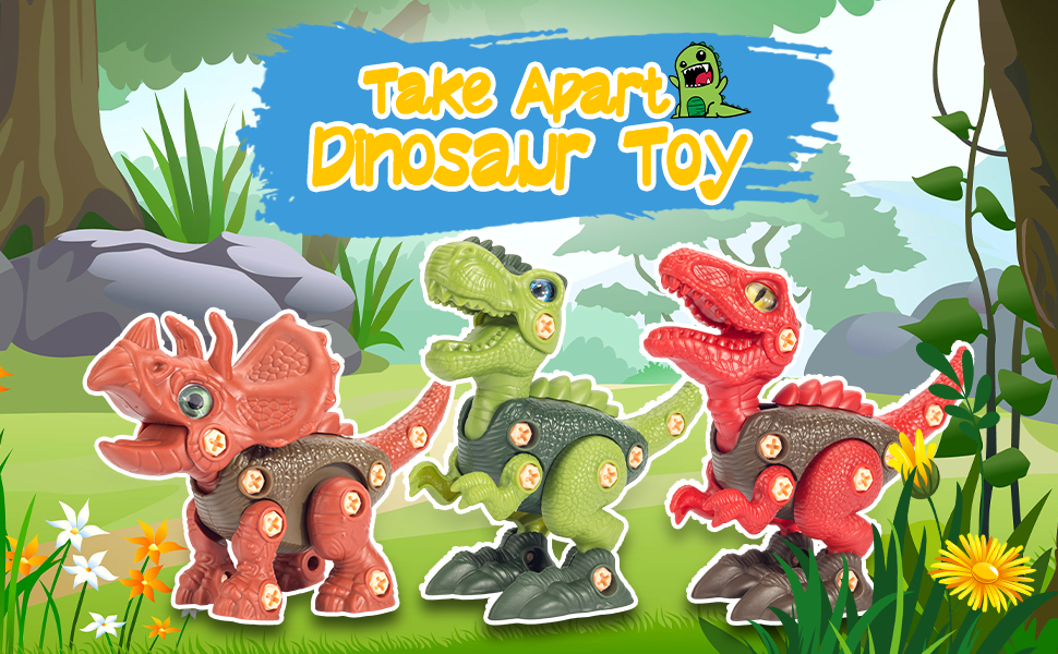 take apart dinosaur toys with electric drill for 3 4 5 6 7 8 9 10 year old boys