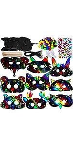 Magic Scratch Art Rainbow Scratch Paper