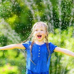 Low impact water, will not hurt your kids
