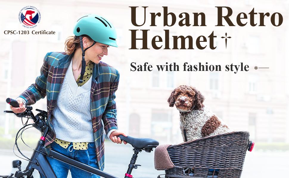 Adult retro helmet for women and men