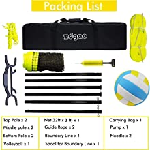 Volleyball net for backyard