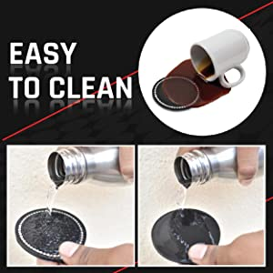 Easy to clean car cup holder coaster