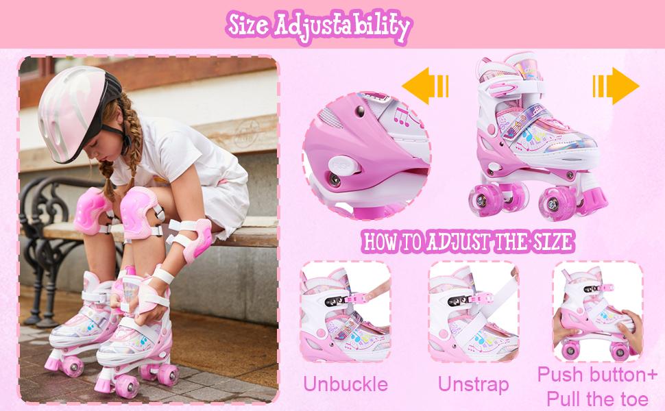adjustable roller skates for girls