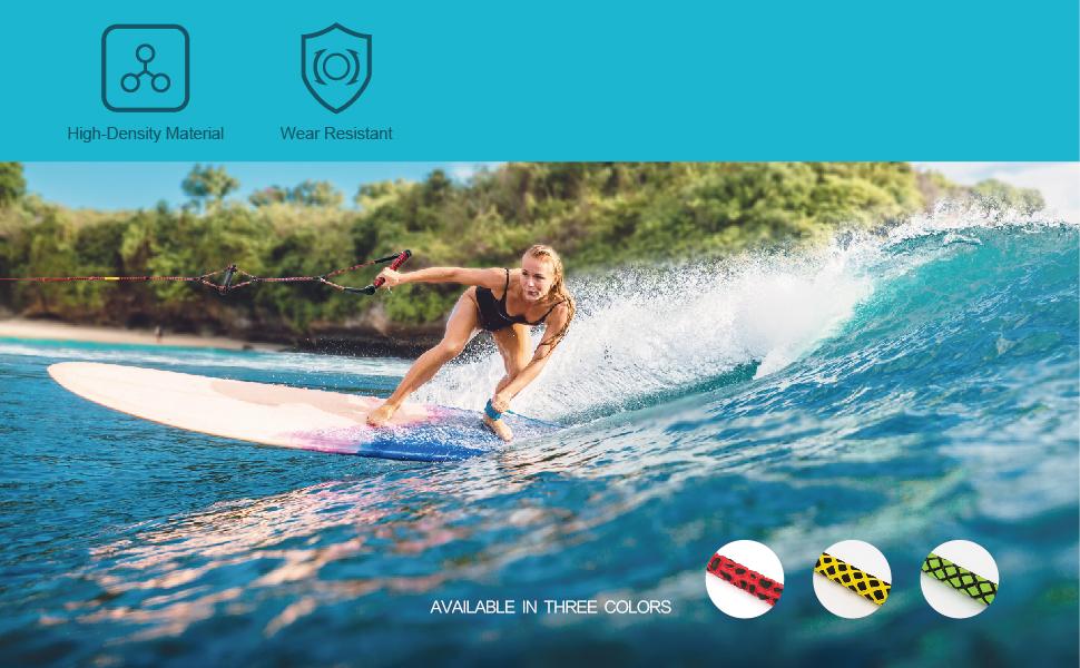 Heavy Duty 23m Wake Board Kneeboard Water Ski Rope Line for Water//Tow Sports