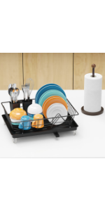 Dish Rack and Paper Towel Holder