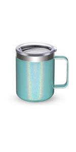 Mint Shimmer Insulated Coffee Mug