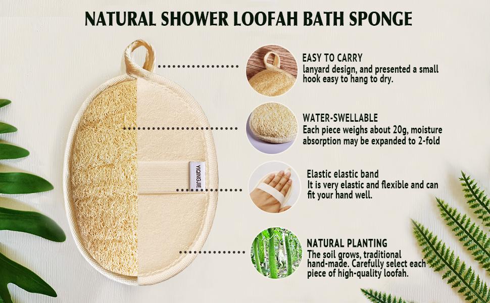 bath loofah exfoliating body scrubber