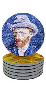 art Coasters for Drinks Absorbent Round Drink Coaster