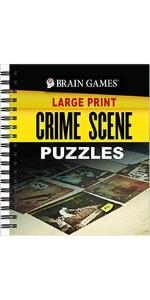brain games large print crime scene puzzles