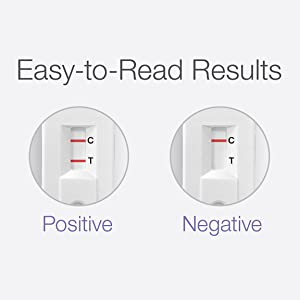 easy to read results positive negative