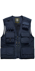 Men multi pockets outdoor vest