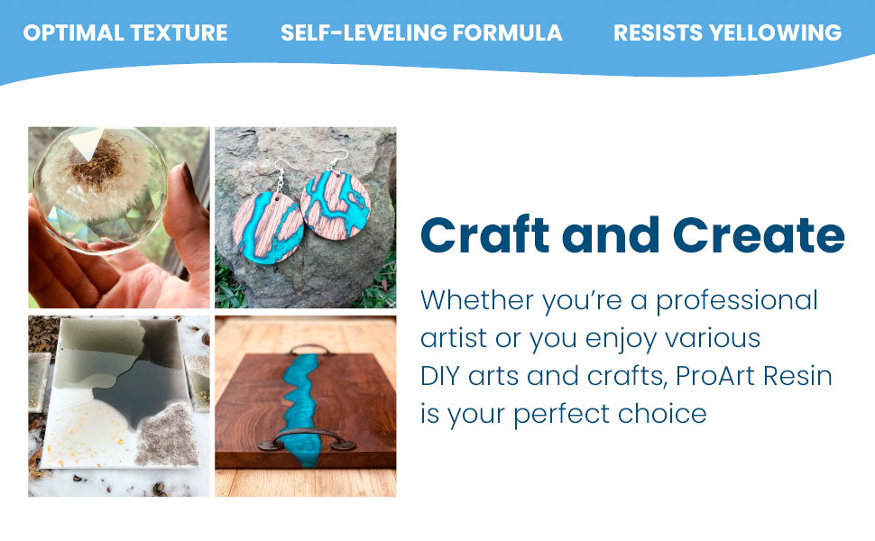 Whether you're a beginner or a veteran, our ProArt Resin is the perfect resin art kit for you