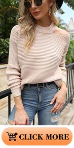 Halter Neck Off Shoulder Sweater