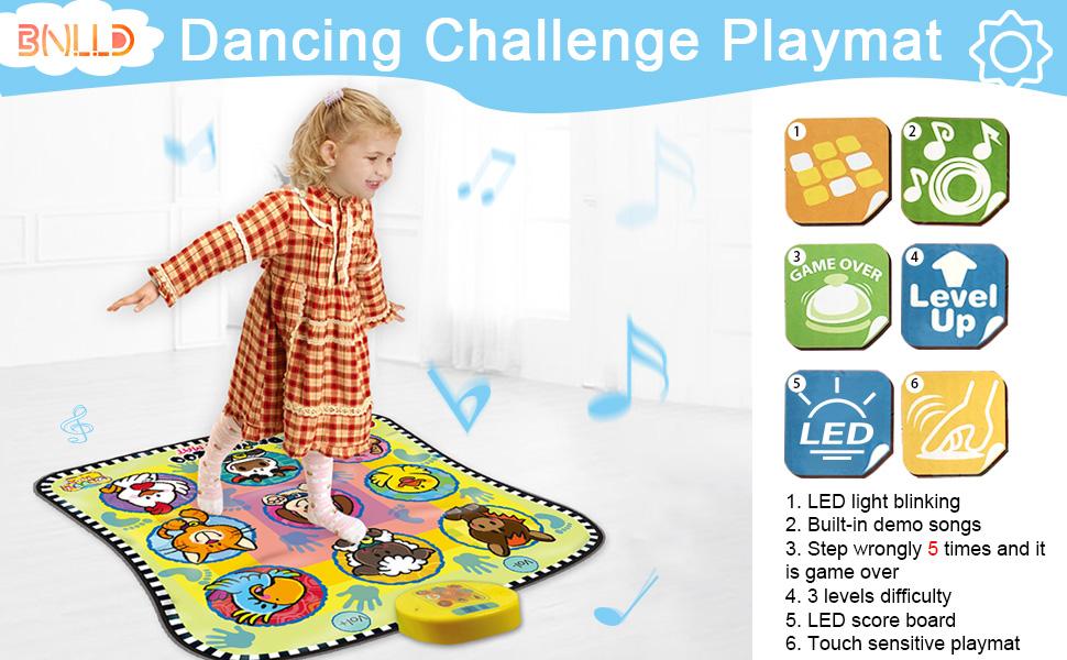 BNLLD Dance Mixer Rhythm Step Play Mat for kids