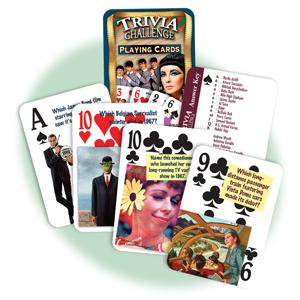 Trivia Challenge Playing cards feature answer key and 52 unique questions