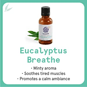 eucalyptus, miny aroma, soothes muscle, calm